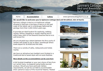 Bed and breakfast accommodation Isle of Harris